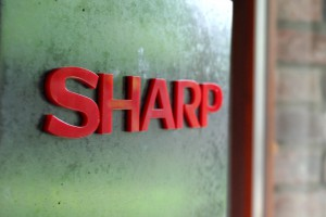 litery blokowe SHARP