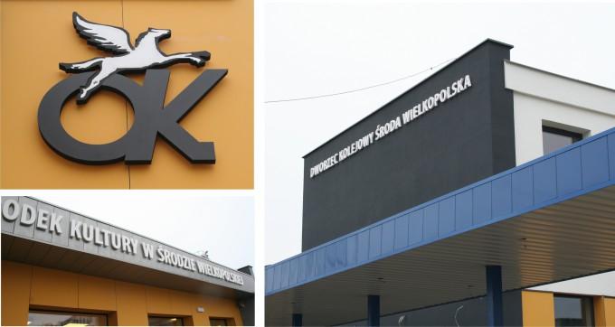 Litery przestrzenne na dworcu kolejowym