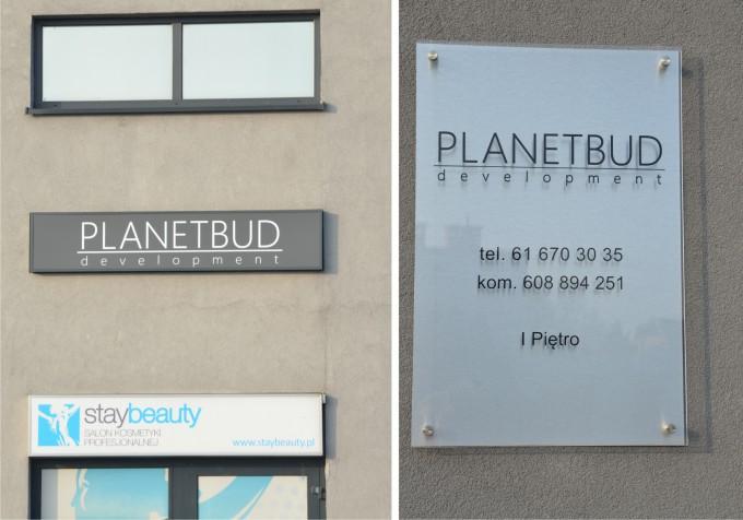 litery przestrzenne na budynek Planetbud
