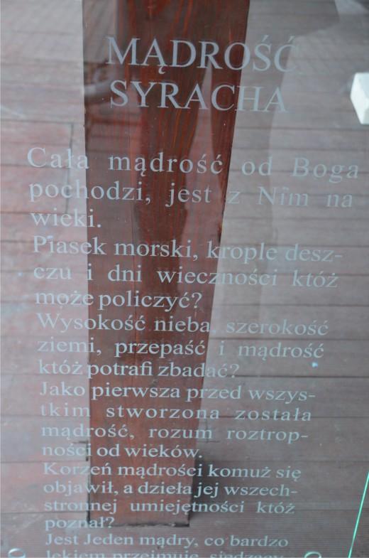 tablica szkło piaskowane