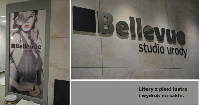 Bellevue litery plexi lustro_3