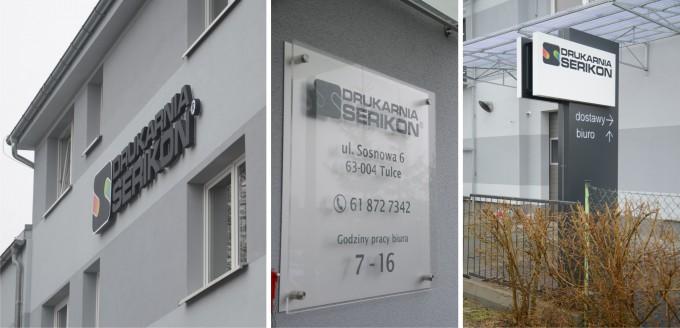Litery przestrzenne i tablice dla drukarni Serikon, Tulce