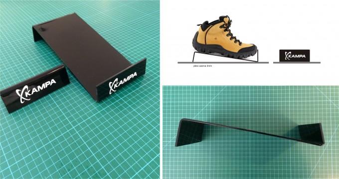 wyroby z plexi stojak na buty
