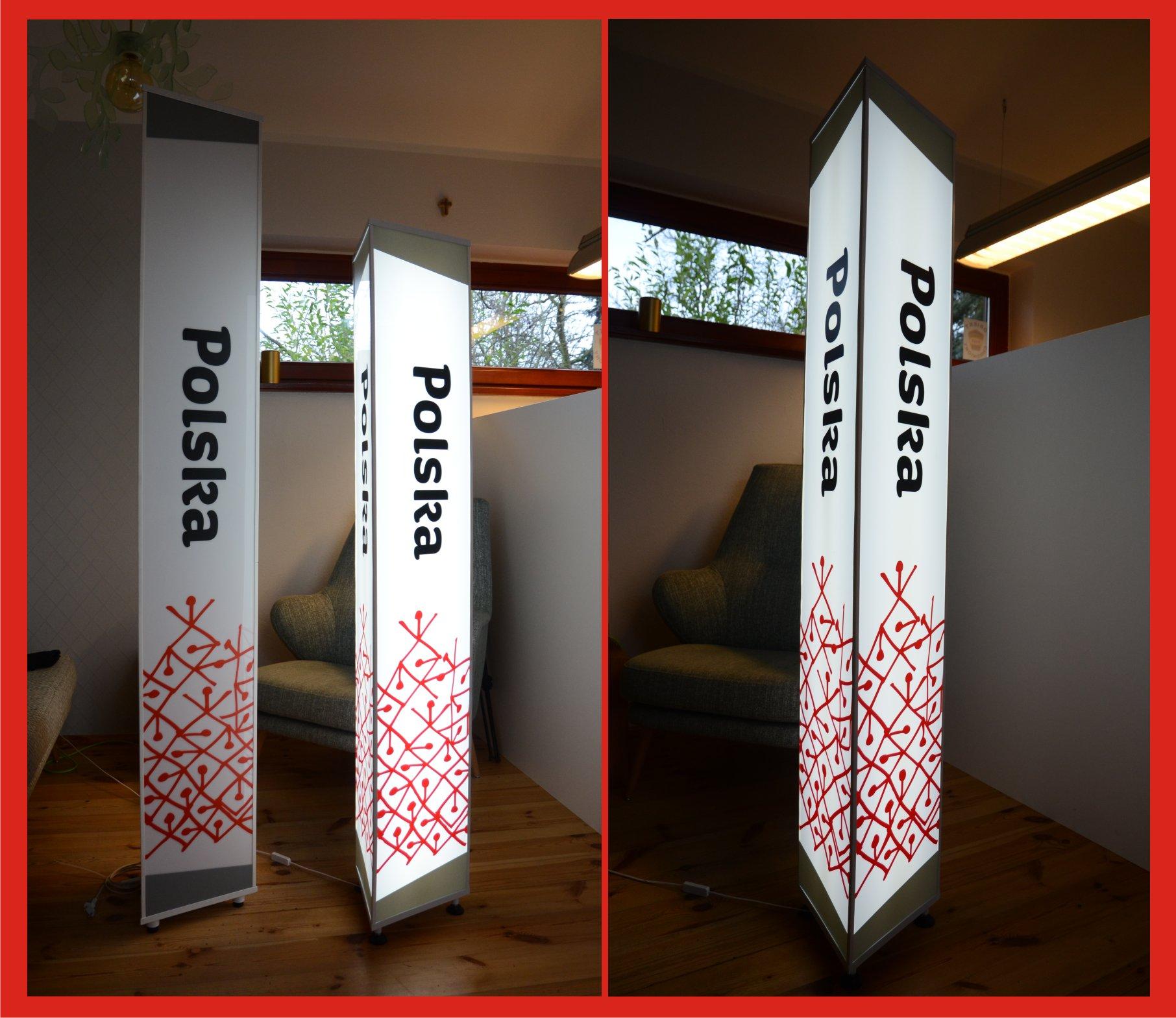 Świecący panel promocyjny dla Marki Polskiej Gospodarki