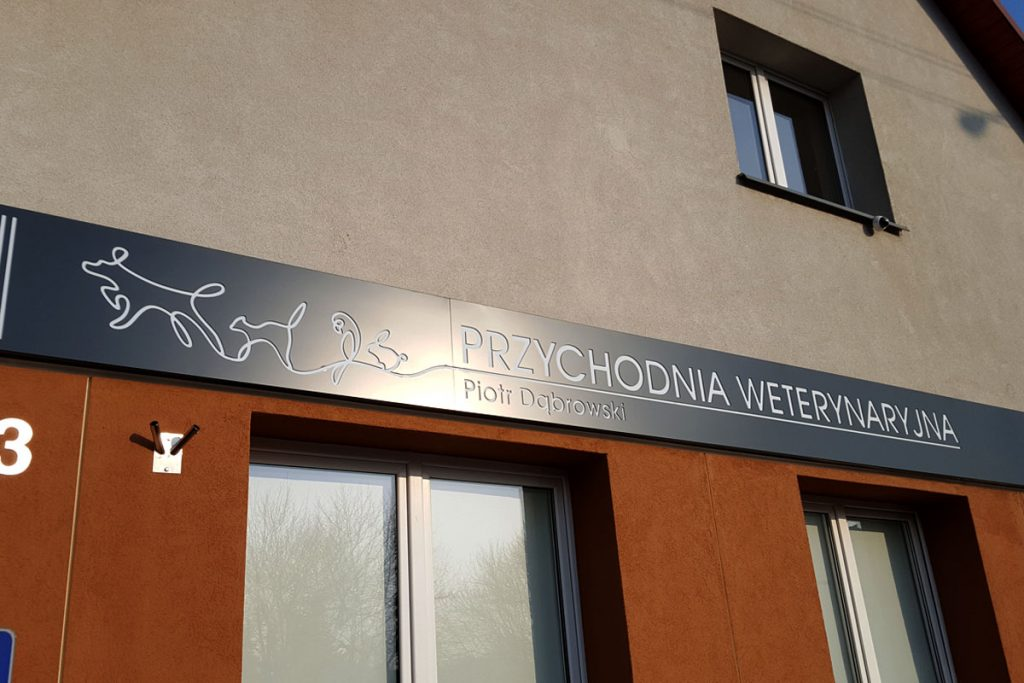 Kaseton z dibondu Poznań