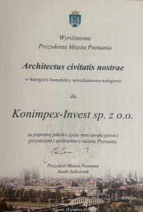 nagroda Architectus civitas nostrae