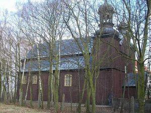 Zabytkowy kościół w Zakrzewie